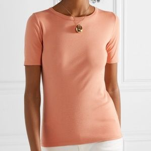 J Crew NWT perfect fit tee in bright coral
